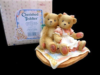 Cherished Teddies Nathaniel & Nellie It's Twice As Nice With You - MINT in Box