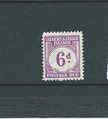 Gilbert & Ellice Island 1940 Postage Due 6d NH