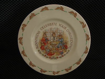 "Vintage Royal Doulton Bunnykins 8"" Plate Celebrate Your Christening."