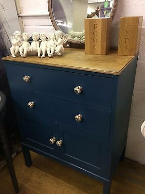 Painted tallboy cupboard not so shabby chic bedroom furniture sideboard cabinet
