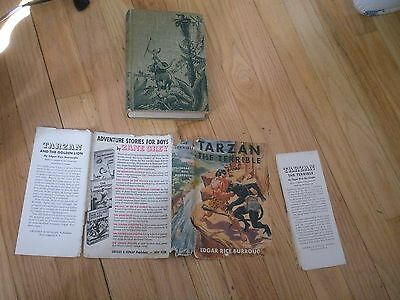 Tarzan The Terrible Hc/dj 1St Edition? 1921 American Publisher