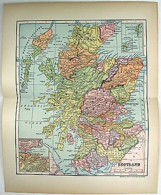 Original 1903 Dated Map of Scotland by Dodd Mead & Company