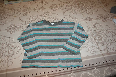 Tee Shirt Gris Et Vert Raye Manches Longues Taille 92