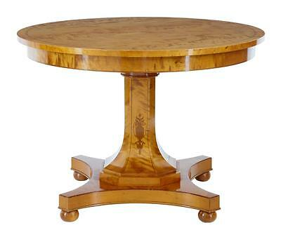 1920's ART DECO INLAID BIRCH CENTER DINING TABLE
