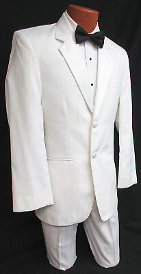 High Quality White Jean Yves Tuxedo with Pants Wedding Prom Cheap Tux Set!!!