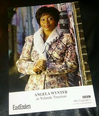 Eastenders Cast Card Angela Wynter Signed And Undedicated