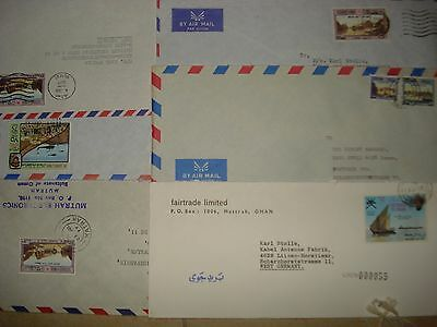 Oman  - Collection of 6 Top Envelopes