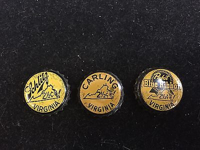 2-1/2 cent Virginia vintage beer caps