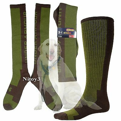 Under Armour Cold Gear Wing Shooting Cushion Socks-Over the Calf Men Large