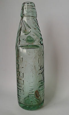 Clayton's Cardiff. Shaw's patent 9oz Codd mineral water bottle