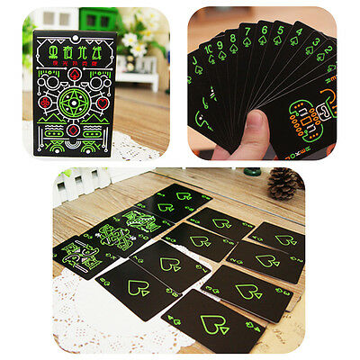 Noctilucent Poker Playing Cards Glow in Dark Night Entertainment Poker for Party
