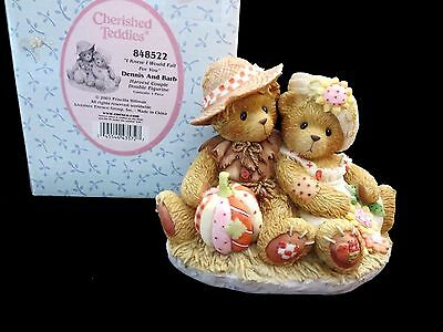 Cherished Teddies Dennis & Barb - I Knew I Would Fall for You - Autumn Couple