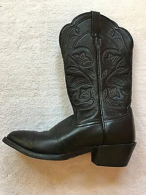 Ariat Women's Black Leather Cowboy Western Boots: Size 6.5