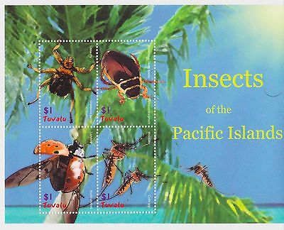 Tuvalu - Insects of the Pacific Islands, 2005 - Sc 969 Sheetlet of 4 MNH