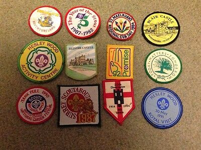 Scout badge collection of 12 blanket badges