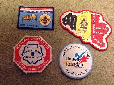 Scout badge collection of 4 Jamboree blanket badges