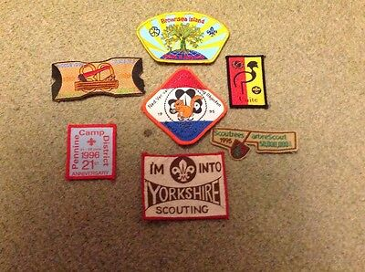Scout badge collection of 7 blanket badges