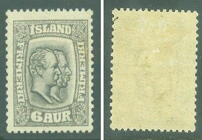 1915 Iceland Mint Very Old Stamp 103* Vf, Scv: $22.50. But Start @ $2.20!
