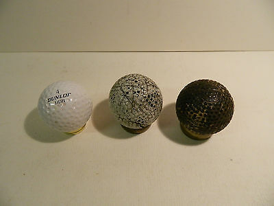 Vintage HASKELL gutta Percha 'Bramble' golf ball dated 1899 and 2 others