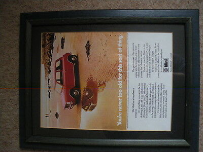 classic mini clubman publicity material  framed picture to launch  mini clubman