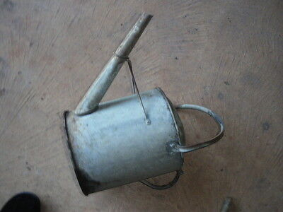 vintage used 2 gallon type metal watering can suitable  for narrowboat  art