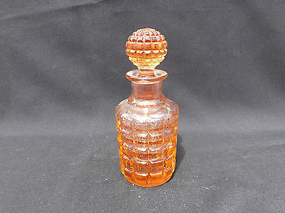 PINK DEPRESSION GLASS SCENT or COLOGNE STOPPERED BOTTLE