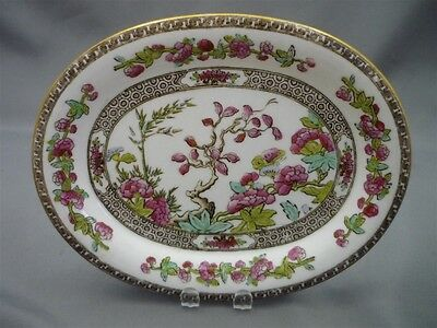 Copeland Spode Indian India Tree Blue Pink Tidbit Tray Candy Dish HAND PAINTED