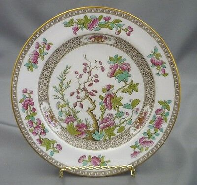 "Copeland Spode Indian India Tree 10 3/8"" Dinner Plate HAND PAINTED Bone China"