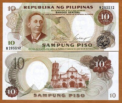 Philippines, 10 Piso, ND (1969), Pick 144 (144a), UNC