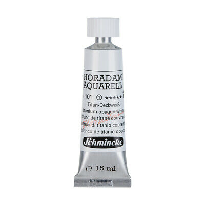 (48,40€/100ml) Schmincke 15ml HORADAM Aquarell Titan-Deckweiss Aquarell  14 101