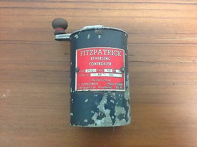 Lathe Switch Electrical Drum Reversing Controller Fitzpatrick Antique Industrial