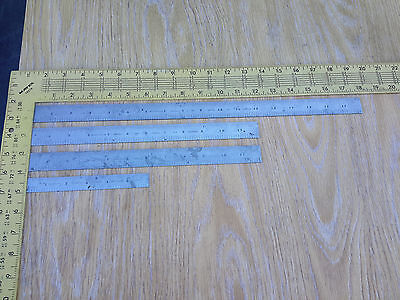 "4 Vintage Millers Falls 6"", 2 @ 12"" & One 18"" Steel Rule Rulers Machinist Tools"