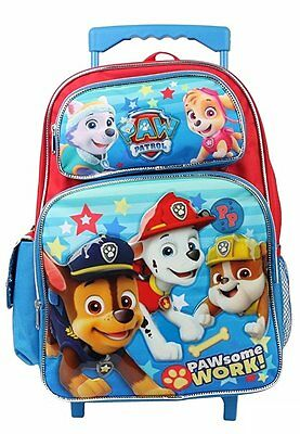 New Paw Patrol SOME WORK! 16 Inches Large Rolling Backpack
