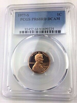1977-S 1C DC (Proof) Lincoln Cent PCGS PR68RD DCAM - Deep Cameo Red
