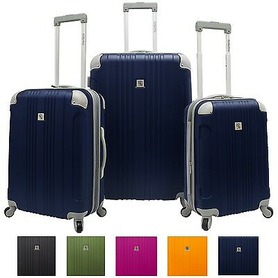Beverly Hills Country Club Newport 3pc Expandable Spinner Luggage Suitcase Set