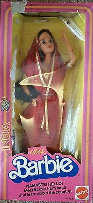 Barbie Doll 1981 Vintage India, Dolls Of The World