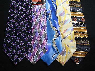 Lot of 5 Men's Jerry Garcia Ties Most New or Barely Worn