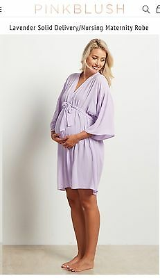 NWT Pink Blush Lavender Delivery/Maternity/Nursing Robe XL