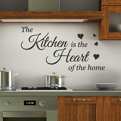 Kitchen is the Heart Wall Quotes Stickers Wall Decals Wall Arts decoration p2
