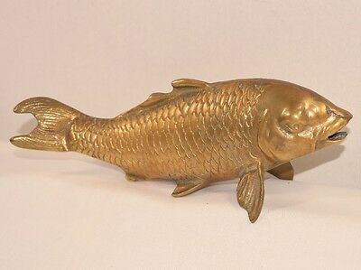 Large Solid Brass Fish