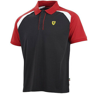 Scuderia Ferrari Mens Race Polo Shirt Formula One Short Sleeve