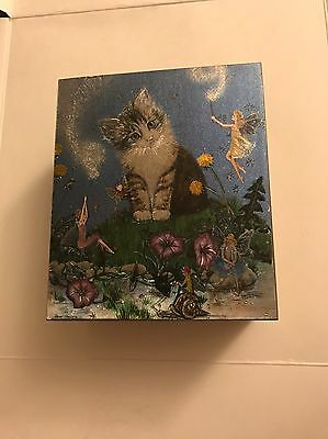 Kitty Cat Fairy Whimsical Dream Jewelry And Trinket Wooden Box