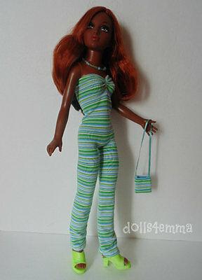 Tiffany Taylor OOAK JUMPSUIT PURSE & NECKLACE handmade clothes Fashion NO DOLL