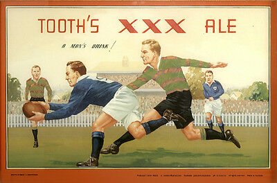 Tooth's XXX Ale photoposter 325x500mm South Sydney v Newtown