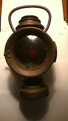 Antique Neverout Insulated Kerosene Safety Lamp - Bicycle - Auto - Carriage -