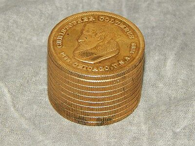1892 (1893) Columbian Exposition Stacked Coin Paperweight