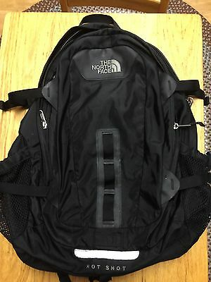 North Face Hot Shot Black Backpack