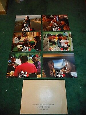 Poetic Justice - Original Set Of 6 French Lobby Cards- Janet Jackson/tupac