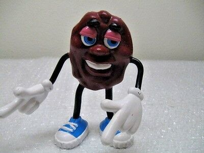"""Applause California Raisin with Blue Shoes LARGE 5 1/2"""" Tall, Vintage, 1987"""