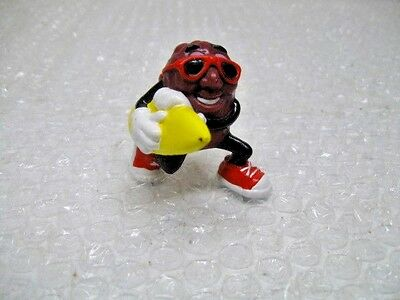"""Applause California Raisin with Yellow Surf Board 2"""" Tall, Vintage, 1988"""
